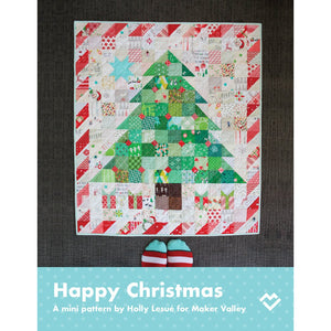 Happy Christmas Mini Quilt Pattern - Downloadable PDF