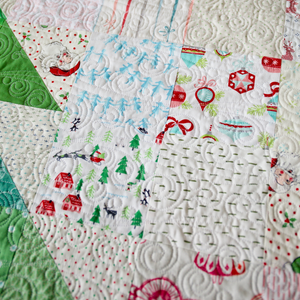 Happy Christmas Quilt Kit (Green Tree) by Maker Valley. Everything you need to make this quilt top available now at makervalleybrand.com