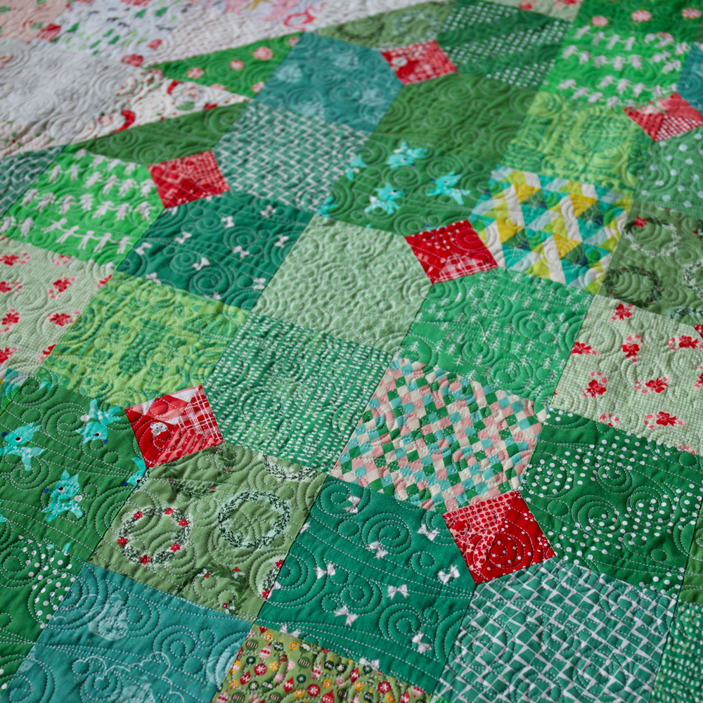 Load image into Gallery viewer, Happy Christmas Quilt Kit (Green Tree) by Maker Valley. Everything you need to make this quilt top available now at makervalleybrand.com