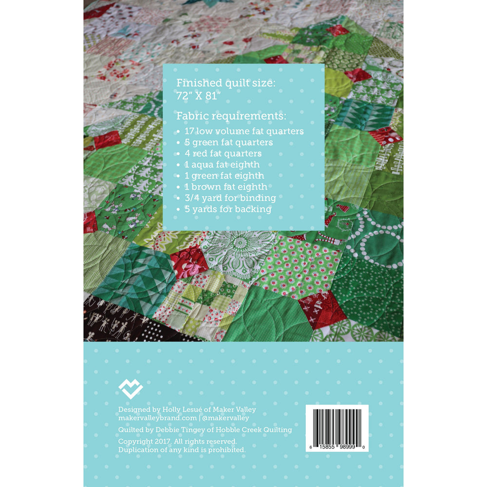 Load image into Gallery viewer, Happy Christmas Quilt Pattern - Paper Pattern - Maker Valley