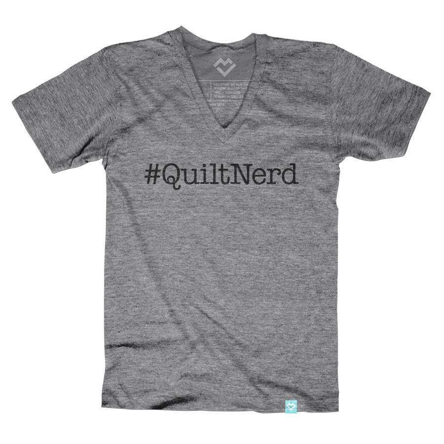 #QuiltNerd V-neck T-shirt (by Diary of a Quilter) - Maker Valley