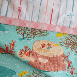 Sugarplum Mice (Aqua) FLANNEL - Pillow Case Kit