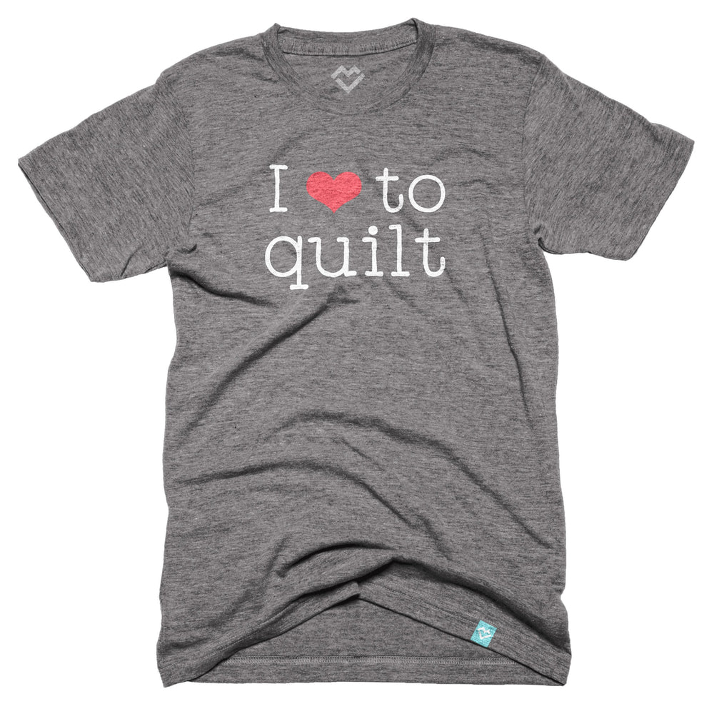 I Love to Quilt T-shirt (by Just Add Sunshine)