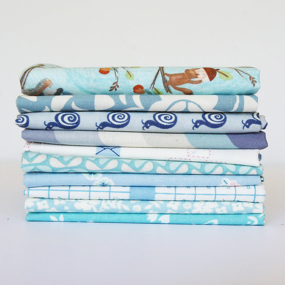 Light Blue - Fat Quarter Bundle