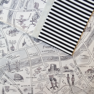 Passport London (Black and White) - Pillow Case Kit