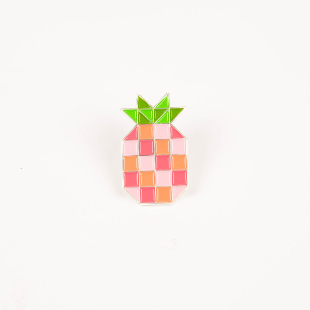 Pineapple Block - Enamel Pin