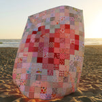 Pixelated Heart Quilt Kit - Red + Pink