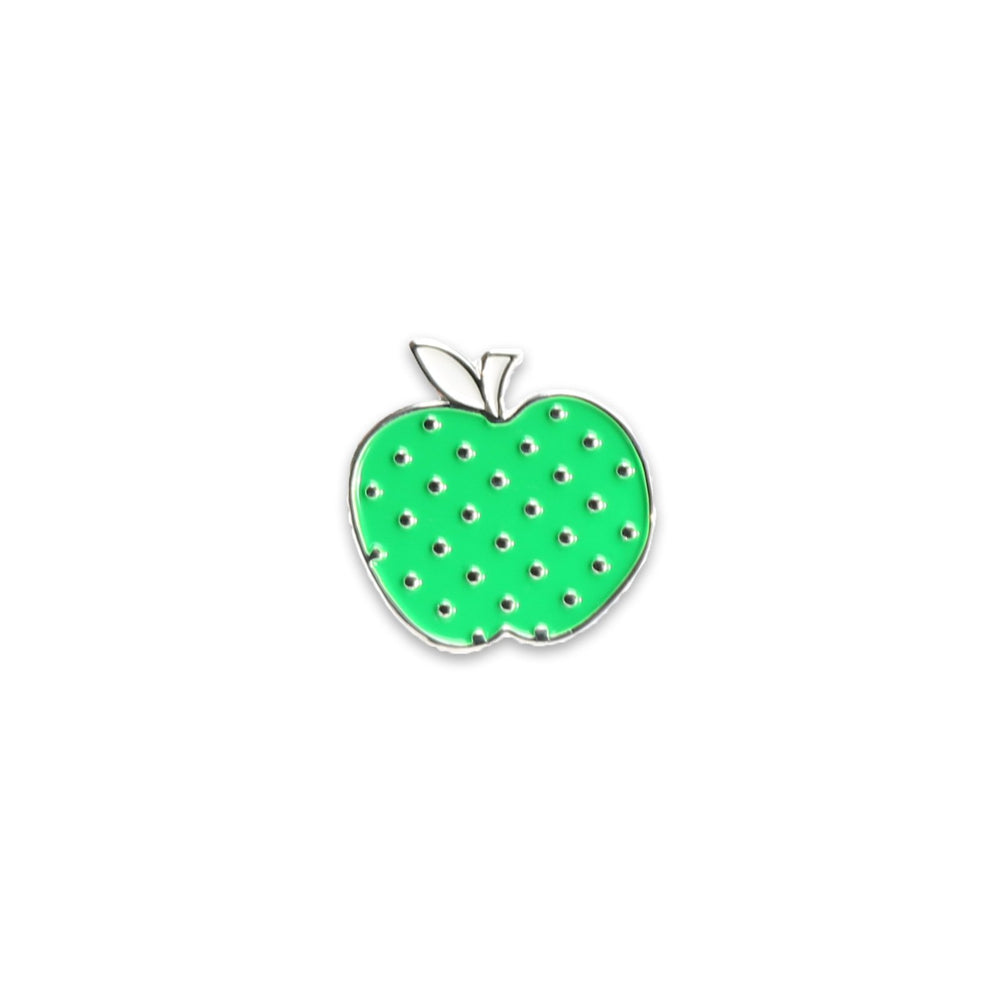 Polka Dot Apple Enamel Pin (By Diary of a Quilter)