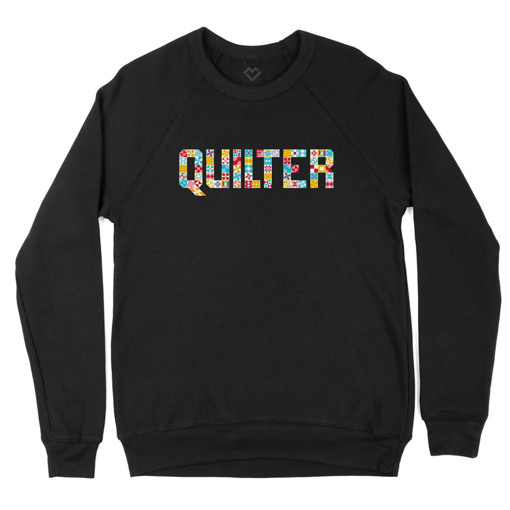 Quilter Blocks Fleece Sweatshirt