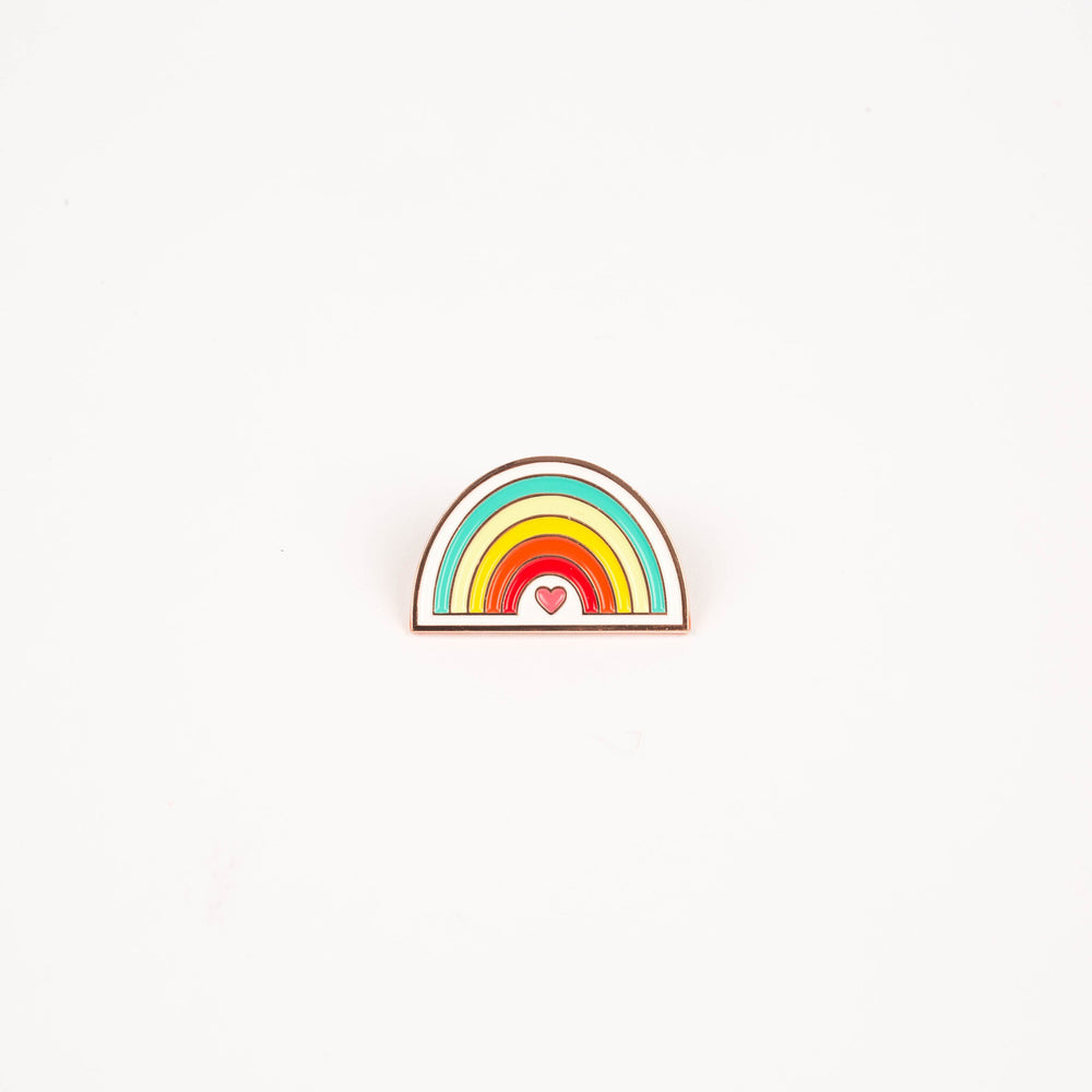 Rainbow Heart Enamel Pin (By Just Add Sunshine) - Maker Valley