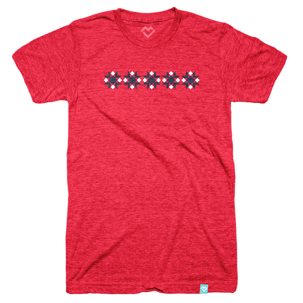 Red Delicious Star Block T-shirt (by Diary of a Quilter)