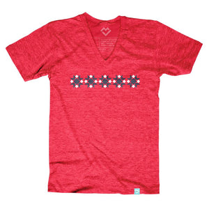 Red Delicious Star Block T-shirt (by Diary of a Quilter) - Maker Valley