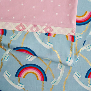 Social Rainbows and Phones (Light Blue) - Pillow Case Kit