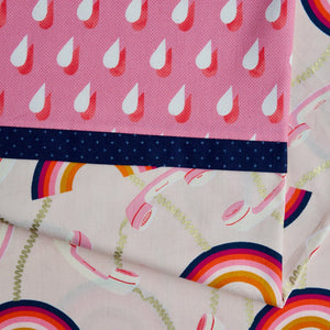 Social Rainbows and Phones (Light Pink) - Pillow Case Kit