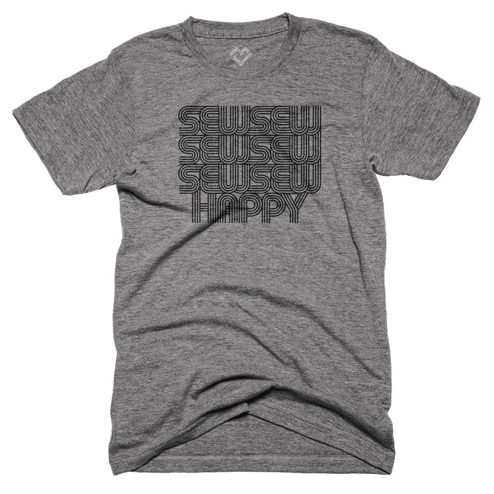 Load image into Gallery viewer, Sew Happy T-shirt (Heather Gray)