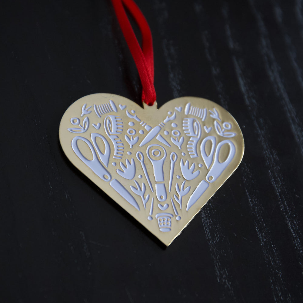 Sewing Heart - Ornament