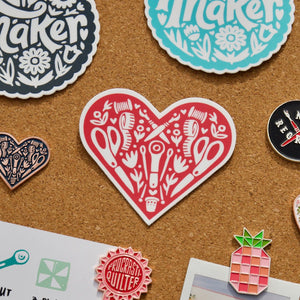 Load image into Gallery viewer, Sewing Heart - Sticker