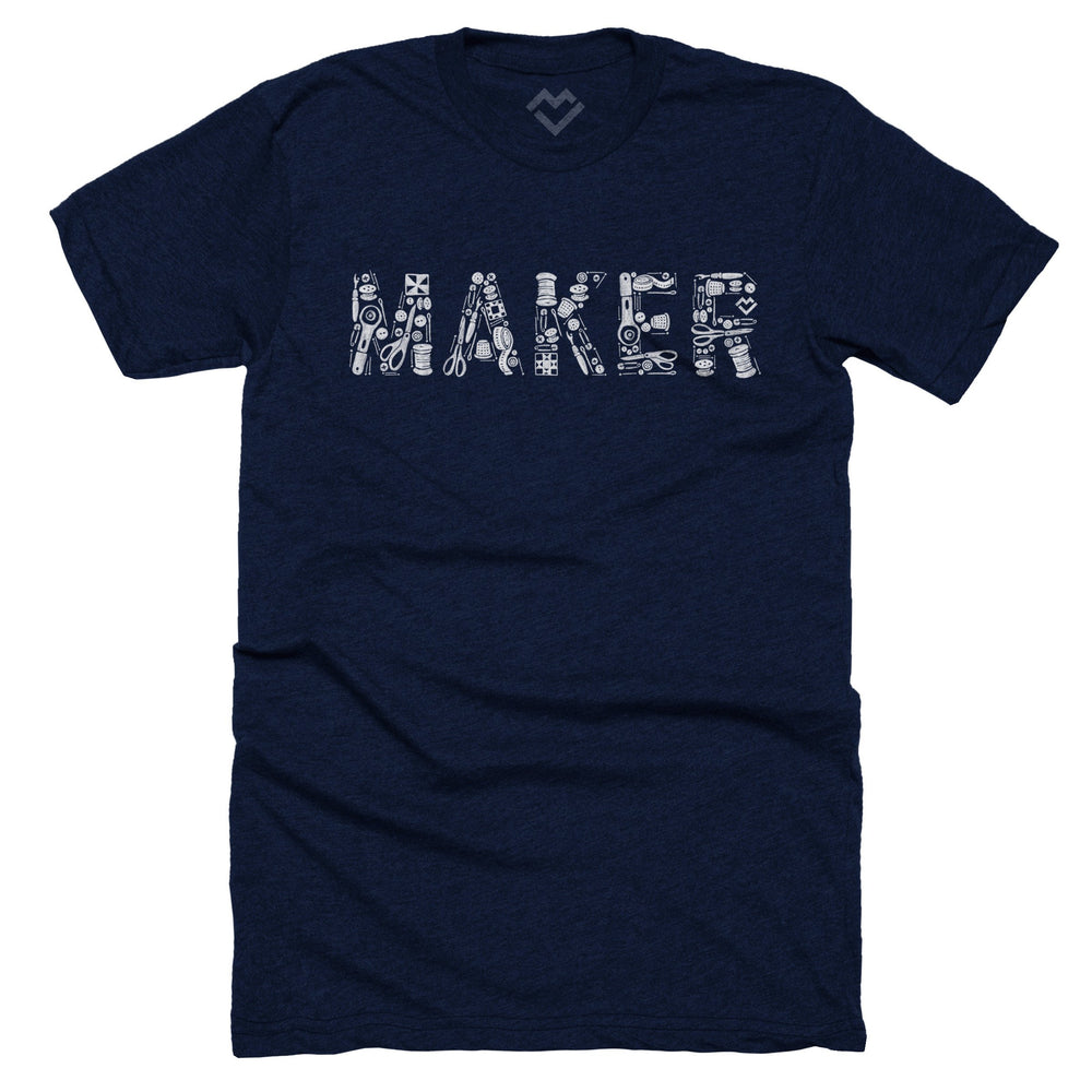 Sewing Maker T-shirt - Navy