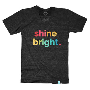 Shine Bright V-neck T-shirt (by Just Add Sunshine) - Maker Valley
