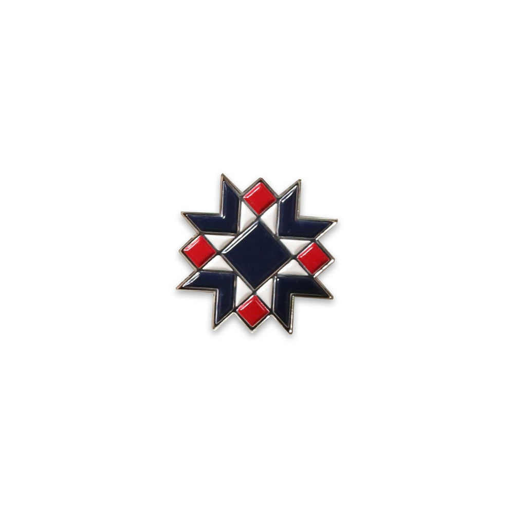 Star Block Enamel Pin (By Diary of a Quilter)