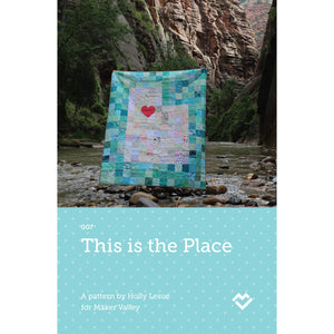 This is the Place Utah Quilt Pattern - Paper Pattern - Maker Valley