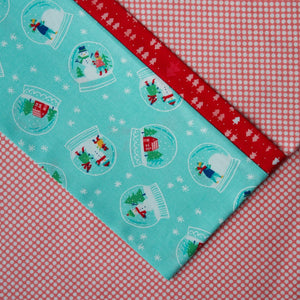 Vintage Holiday Dot (Pink and White) FLANNEL - Pillow Case Kit