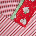 Vintage Holiday Stripe (Red, Pink, and White) FLANNEL - Pillow Case Kit