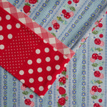 Yuwa Strawberries (Blue) - Pillow Case Kit