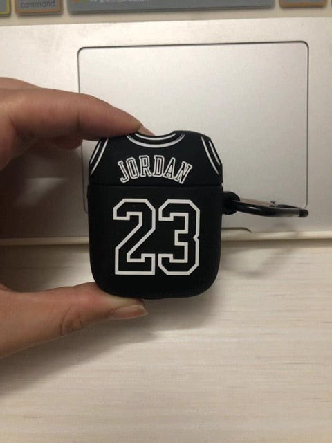 Silica Bluetooth Earphone Case Chicago Bull 23 Jordan for Apple Airpods Case Wireless Headphone Set Cover for airpods 1/2