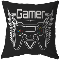 Winged Gamer Pillow