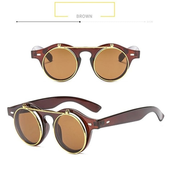 SteamPunk Flip Up Sunglasses