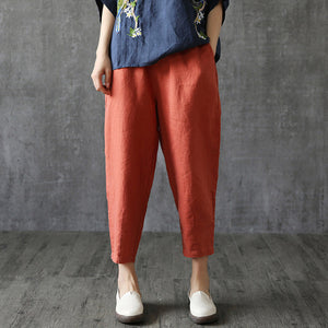 Women's Harem Pant Solid  Waist Ankle-Length Pants