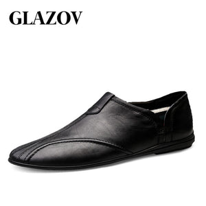 Men Fashion Genuine Leather Casual Loafers