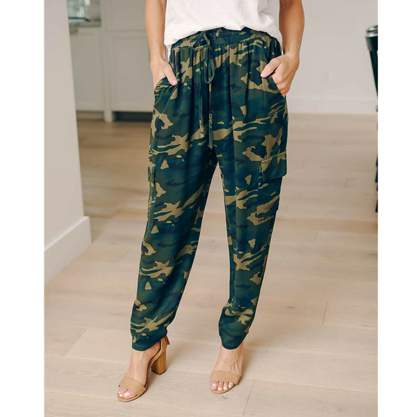Women's Camo Trousers Casual Loose Pants