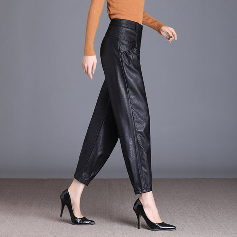 Faux Leather harem pants