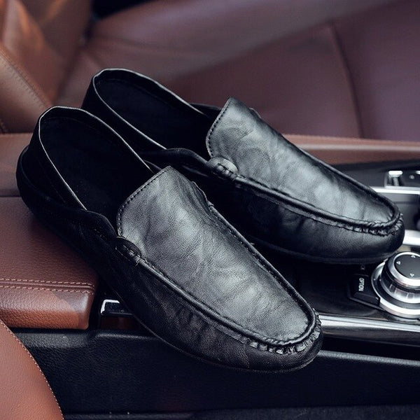 Men Casual Shoes Soft Leather Shoes