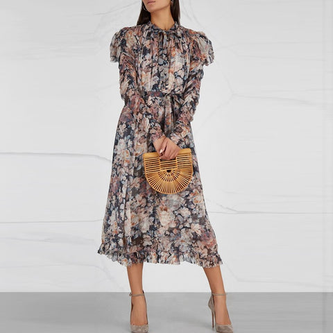 Floral 2 Two-Piece Midi Dress
