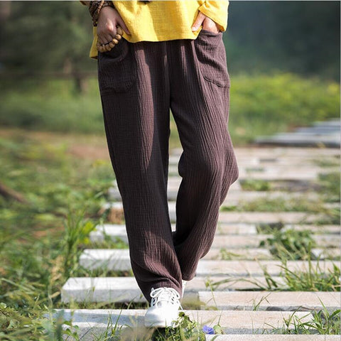 Women's Fashion comfortable cotton linen pants