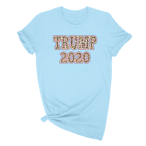 Ladies Trump 2020 Leopard Print Tshirt