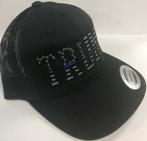 Thin Blue Line Trump Flag Cap
