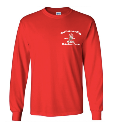 Adult Long Sleeve T-Shirt - Red Logo