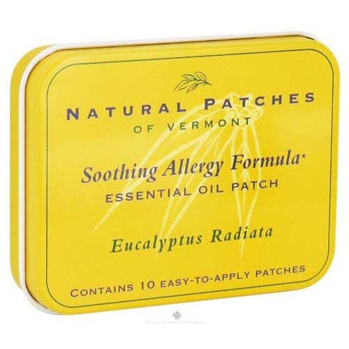 Soothing Allergy Formula Essential Oil Body Patches Eucalyptus Radiata - 10 Patches