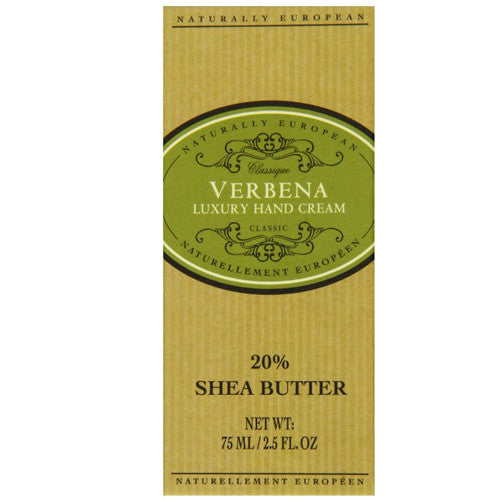 Naturally European VERBENA Luxury Hand Cream Boxed 20% Shea Butter 75ml