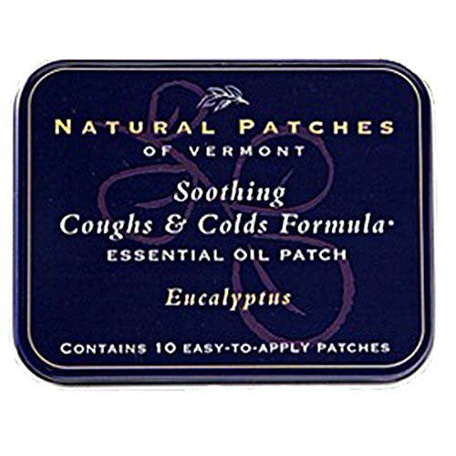 Essential Oil Patches Eucalyptus, Coughs & Cold Relief 10 Count Tins