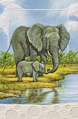 Pumpernickel Press Elephant Baby New Addition Greeting Card Set of 6