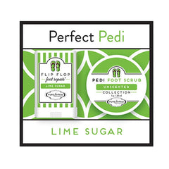 Perfect Pedi Mini Flip Flop Foot Repair & Foot Scrub by PURE Factory - Lime Sugar