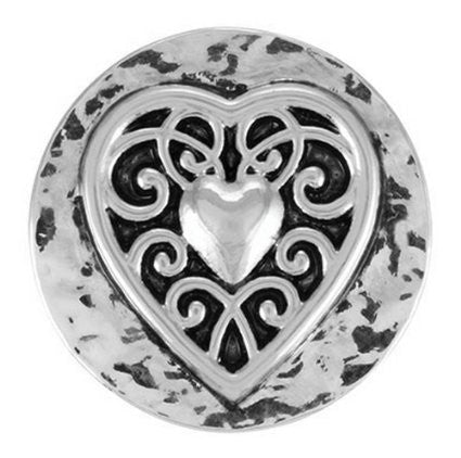 Ginger Snaps VINTAGE HEART Interchangeable Jewelry Snap Accessory