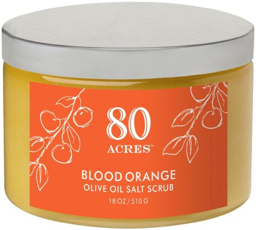 80 Acres Blood Orange Salt Scrub - 14 oz