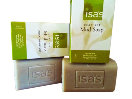 Isa's Dead Sea Mud Soap & Exfoliating Mud Soap Bundle