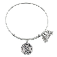 Wind and Fire Guardian Angel Charm Bangle Bracelet